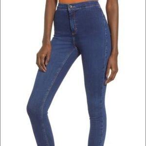 Topshop new Joni high waist crop jeans size 28